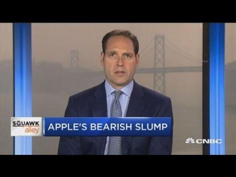Goldman Sach's Apple analyst breaks down the stock's downturn