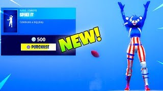 "NEW! Football NFL EMOTE! Is out! ""Spike it"" (Item Shop) Fortnite Battle Royale"