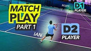 NTRP 5.0 Tennis Match Play - PART 1 (Ian vs Scott)