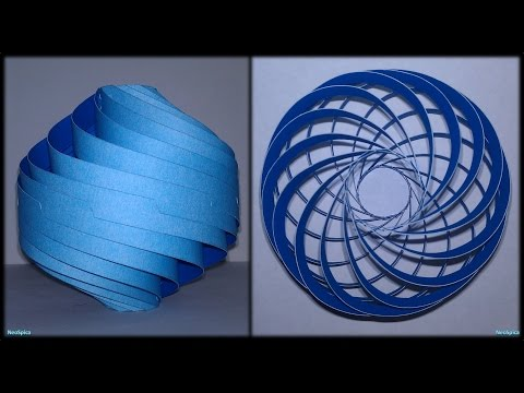 Tutorial 23 - Modular Spiral-twisted (Decor or lamp) Paper Cut