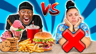 FOOD VS NO FOOD CHALLENGE