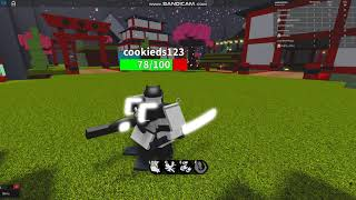 Testing Samurai class in strike lab (WIP I think)(roblox short)