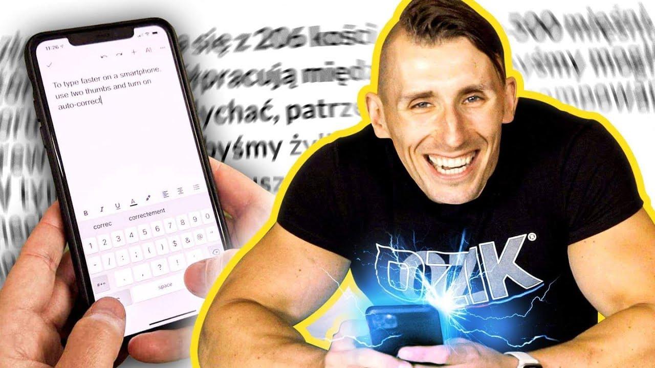 Wielki test szybkiego pisania *NA TELEFONIE*