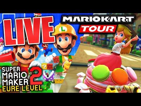🔴Die Paris Tour in Mario Kart Tour! Mario Maker 2 eure Level & Pokemon Trailer! xD