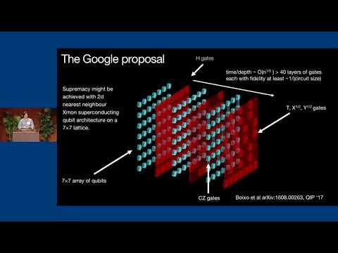 Beyond classical computing via randomized low‐depth quantum circuits