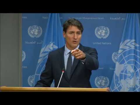 Inner City Press Asked Trudeau of Canada Arms Sales to #Saudi, He Called The Question Bad Behavior