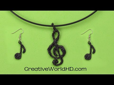How to Make Music Note/Treble Clef/Budget Jewelry 3D Printing Pen/Scribbler DIY Tutorial