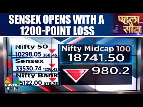 Sensex Opens With A 1200-Point Loss | Market Opening | Pehla Sauda  | CNBC Awaaz
