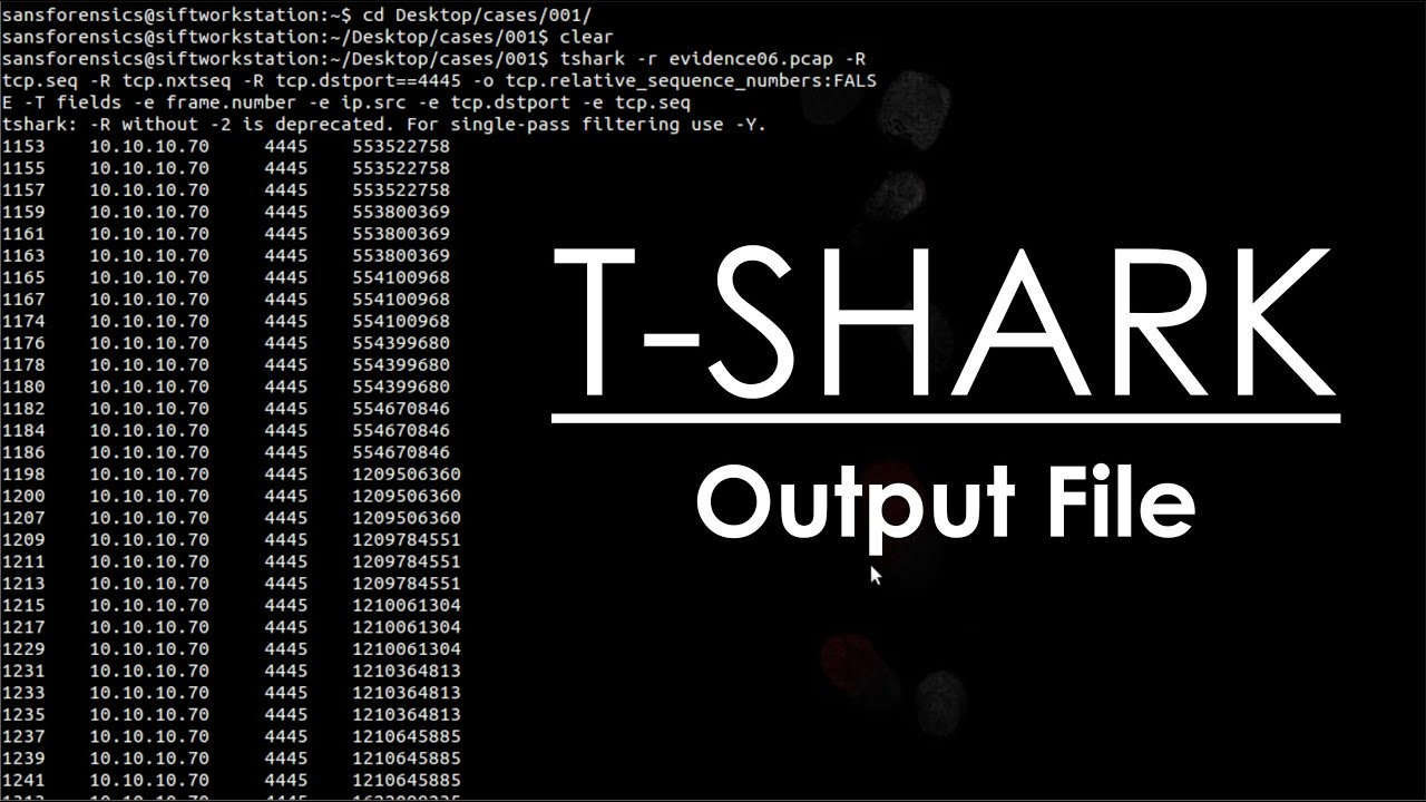 Mastering Wireshark T Shark Output File Youtube