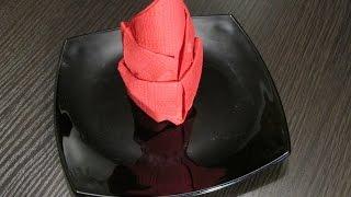 Как складывать салфетки.How to fold napkins.