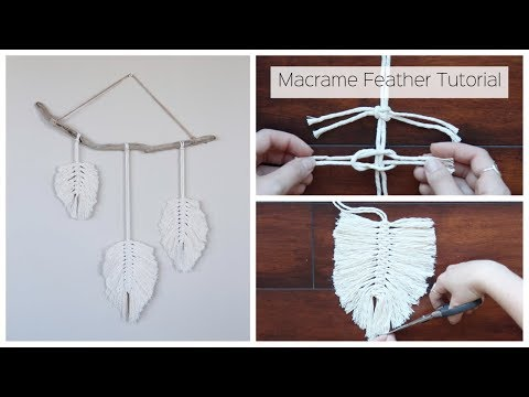 How To Make A Macrame Feather Wall Hanging - Tutorial For Beginners thumbnail