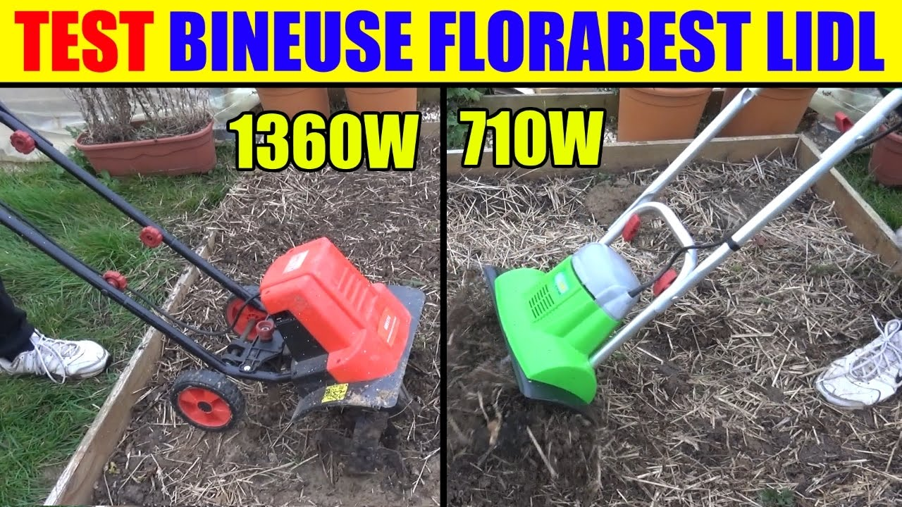 florabest bineuse electrique lidl test 710w et motobineuse 1360w garden cultivator. Black Bedroom Furniture Sets. Home Design Ideas