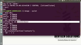 MongoDB Tutorial 1 : Create and Drop Database