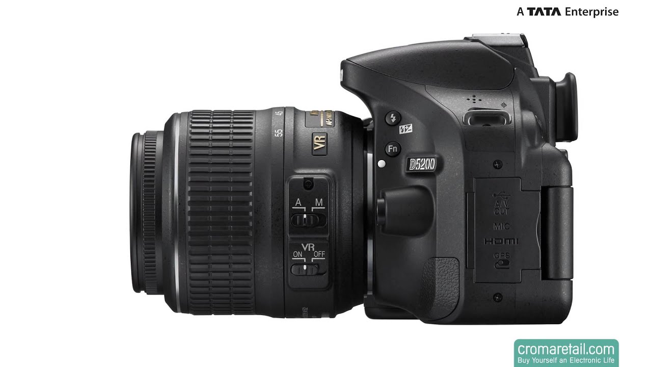 Nikon D5200 24 1 Mp Digital Slr Camera 18 55 Mm Black Youtube