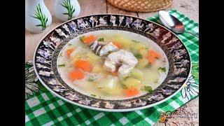 Рыбный суп из молочного хека с рисом Диетические блюда