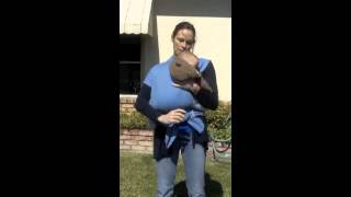 Two Ways Mom can Breastfeed in Moby Wrap