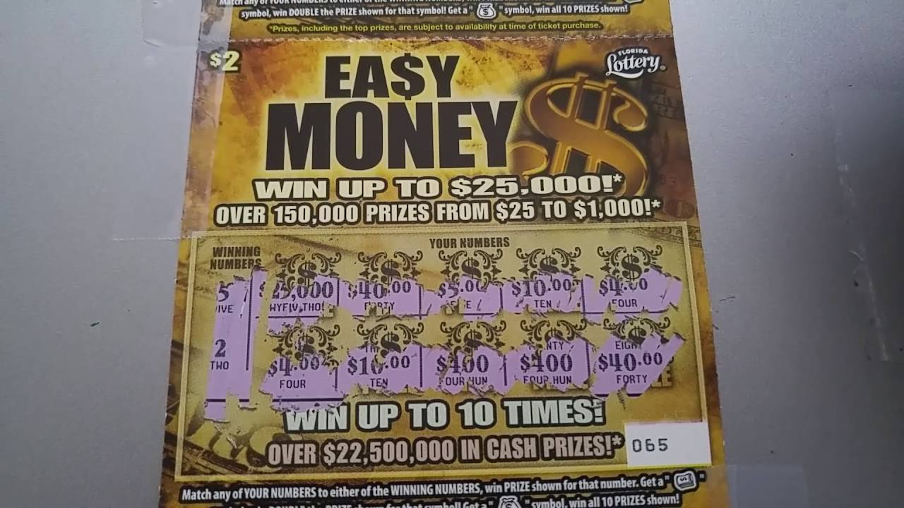3 2 Easy Money Florida Lottery Scratch Off Ticket