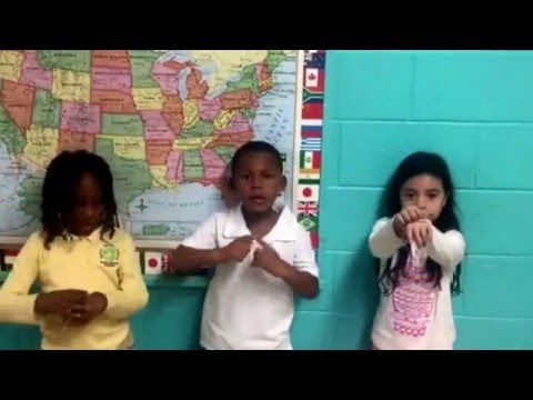 Global Purpose Academy students learned  sign language for the Holiday Performance.