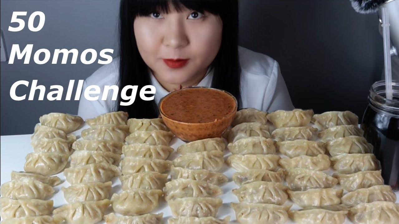 Download 50 pork momos /dumpling challenge  /eating sound ASMR / MUKBANG