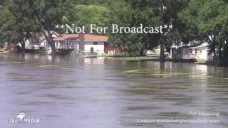 Moline, Illinois - Major Flooding Along The Rock River - July 23rd, 2017