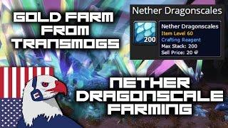 Nether Dragonscale Farm Spot - Gold Farming in Transmogs