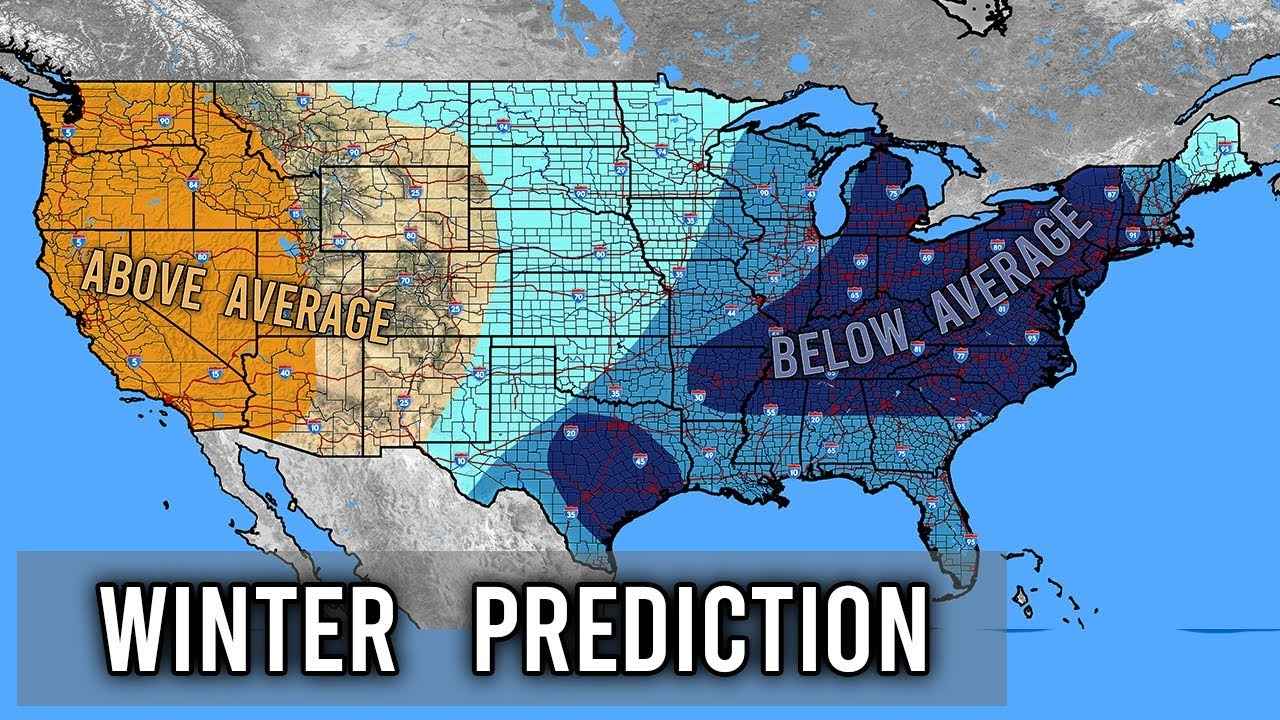 Winter Forecast Month by Month 2019 - 2020