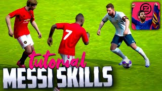 All Leo Messi SKILLS in PES Mobile | TUTORIAL