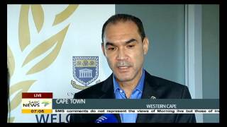 UWC vice-chancellor concerned about the ongoing protest
