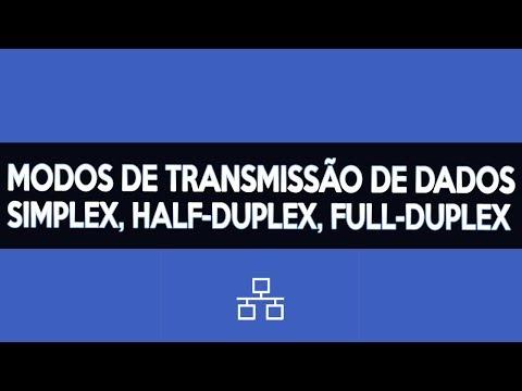 SIMPLEX, HALF-DUPLEX, FULL-DUPLEX — Modos de transmissão de dados