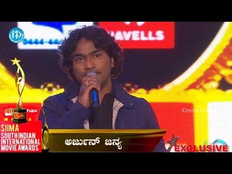 SIIMA 2014 Best Singer Male Kannada || Arjun Janya