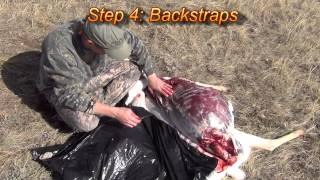 Quartering and de-boning wild game (Gutless Method)