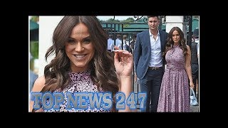 Vicky Pattison shows off her curves in pretty print dress at Wimbledon