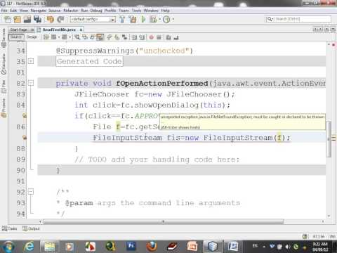how to read text file (JAVA Netbean)
