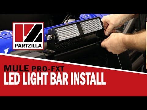 how to install an led light bar on a utv | kawasaki mule | partzilla com