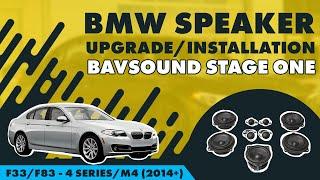 bavsound stage one bmw speaker upgrade f33 f83 4 series m4 2014 all audio systems