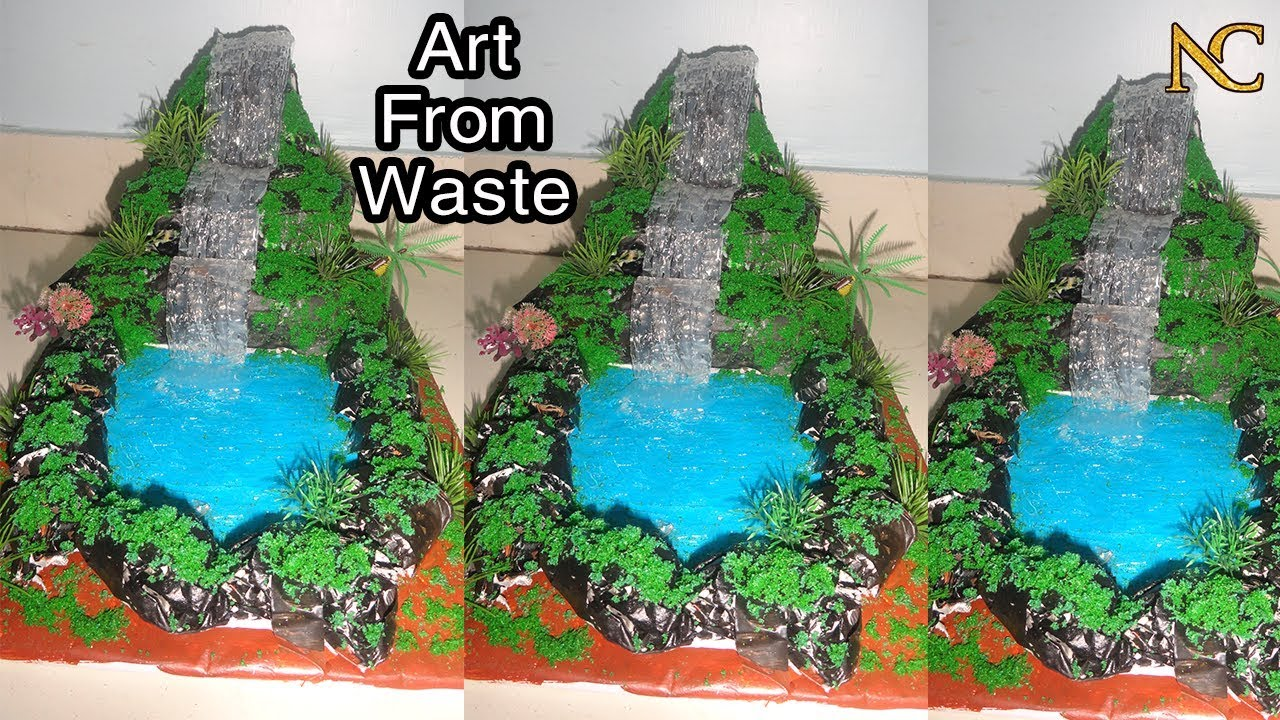 Navarathiri Golu Decoration Ideas How To Make Waterfall Best Out Of Waste