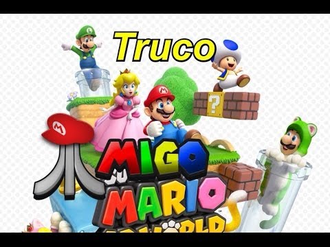 "Super Mario 3D World Wii U. ""Truco"" Vidas ilimitadas/unlimited lives"
