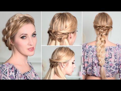 Причёски с косами на каждый день быстро и легко, самой себе, для длинных волос