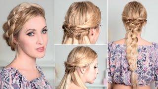 Причёски с косами на каждый день быстро и легко, самой себе, для длинных волос(В этом видео уроке я вам покажу шаг за шагом, как самой себе за 5-15 минут сделать причёски-трансформеры с..., 2015-11-29T13:41:54.000Z)