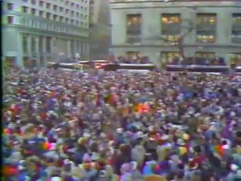1985 Chicago Bears SB XX celebration parade downtown Chicago-live
