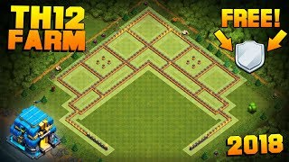"NEW TH12 FARMING BASE + REPLAYS! | CoC Town Hall 12 ""FREE SHIELD"" Base 