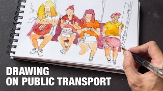 Drawing on Public Transport, Trains, Stations (tutorial)