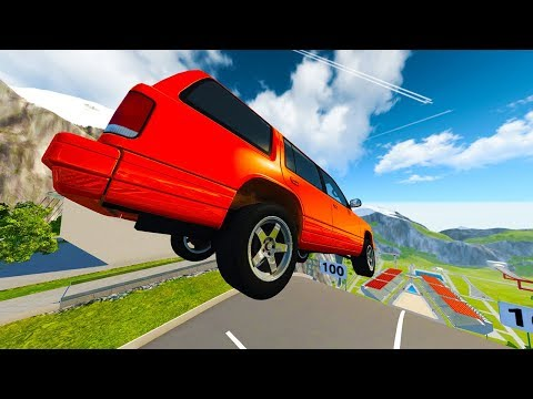 WHICH CAR CAN FLY THE FURTHEST ON CAR JUMP ARENA? - BeamNG Drive Challenge!