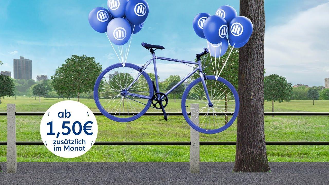 Wir sind da. Zum Beispiel mit dem Fahrradbaustein in der Allianz Hausratversicherung.