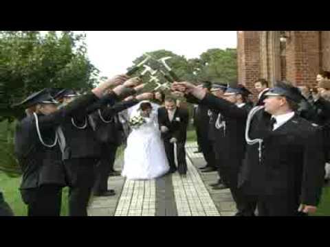 ślub Marceliny I Sebastiana Osp Lubin Przejście Strażackie Youtube