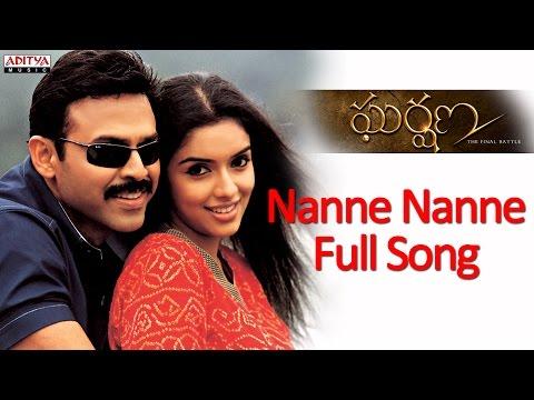 Nanne Nanne Full Song - Gharshana Telugu Movie - Venkatesh, Aasin