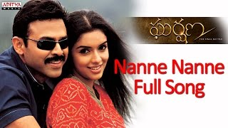 Nanne Nanne Full Song - Gharshana Telugu Movie - Venkatesh, Aasin