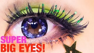 SUPER BIG EYES makeup TUTORIAL Base & Eyeline by Kurebayashi Japanese Kawaii Model| 紅林大空超デカ目メイク Thumbnail