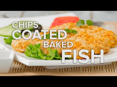 Chips Coated Baked Fish