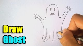How to Draw a Ghost for Halloween